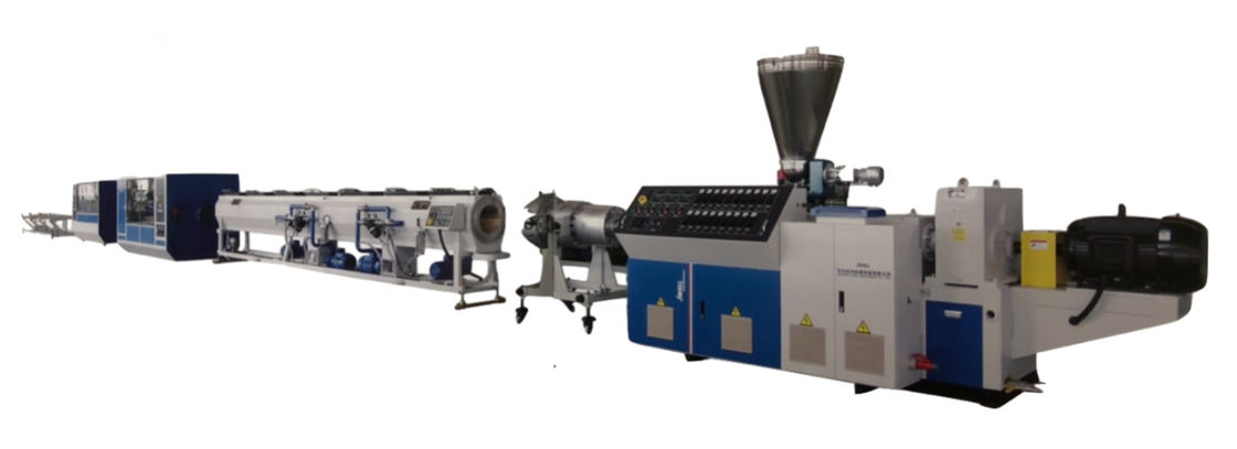 Four Plastic Pipe Production Line , Plastic Pipe Extrusion Machine Universal Rotary Clamping