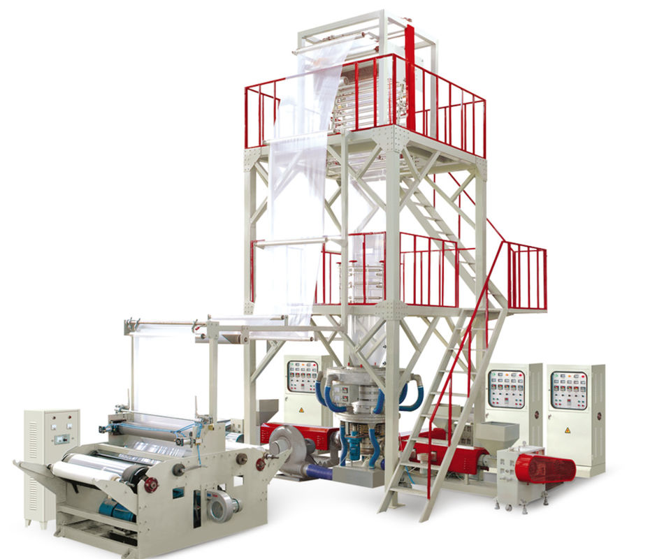 Rotary Die Head Blown Film Extrusion Machine , PE Film Blowing Machine Oil Resistant